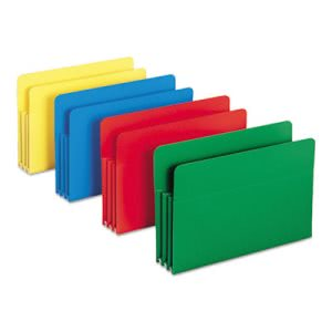 Accordion File Pockets, Straight Tab, Legal, Assorted, 4 Folders (SMD73550)