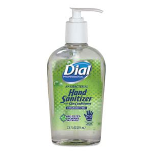 Dial Antibacterial Hand Sanitizer w/Moisturizers, 12 - 7.5 oz Bottles (DIA01585)