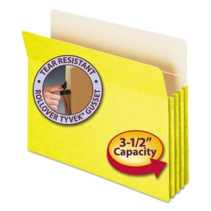 "Smead 3 1/2"" Expanding File Folder, Letter, Yellow (SMD73233)"