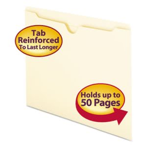 Smead File Jackets with Double-Ply Tab, Letter, 100 per Box (SMD75500)