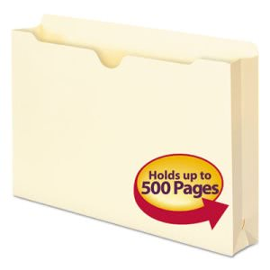 "Smead File Jackets with 2"" Expansion, Legal, 11 Point Manila, 50/Box (SMD76470)"