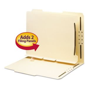 Smead Manila Self-Adhesive Folder Dividers with Twin-Prong Fastener, Letter, 25/Pack (SMD68025)