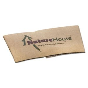 Naturehouse Hot Cup Sleeves, Fits 10,12,16, 20 oz Cups, 1000/Carton (SVAS02CT)