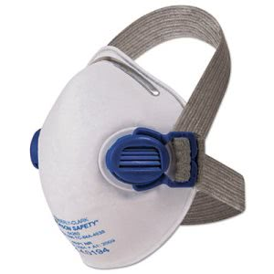 Jackson Safety R10 Particulate Respirator, White/Gray, 10 Respirators (KCC64260)