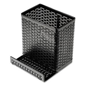 Urban Collection Punched Metal Black Pencil Cup - Cell Phone Stand (AOPART20014)