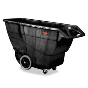 Rubbermaid 9T16 Structural Foam Tilt Truck, 1 Cubic Yard, Black (RCP9T16BLA)