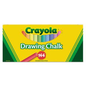 Crayola Colored Drawing Chalk Set w/Assorted Colors, 144 Sticks (CYO510400)