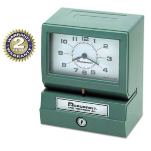 Analog Automatic Print Time Clock with Month/Date/Hours/Minutes (ACP012070413)