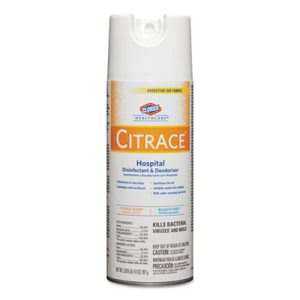 Caltech Citrace Germicidal Disinfectant Spray, Citrus, 12 Cans (CLO49100)