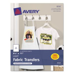 Avery Personal Creations Inkjet T-Shirt Transfer, White, 18 per Pack (AVE8938)