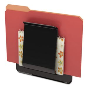 Deflect-o Stand Tall Wall File, Oversized, One Pocket, Black (DEF65504H)
