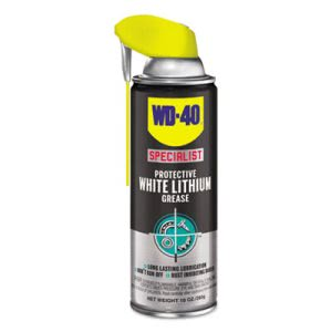 WD-40 Specialist White Lithium Grease, 10-oz. Aerosol, 6 Cans (WDF300240CT)