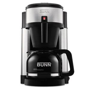 Bunn 10-Cup Home Coffee Brewer, Stainless Steel, Black (BUNNHS)
