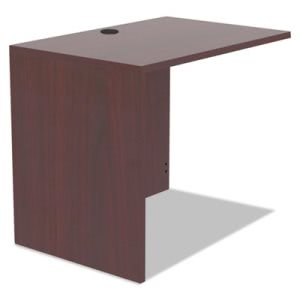 Alera Valencia Series Reversible Return/Bridge Shell, 35w x 23-5/8d, Mahogany (ALEVA353624MY)