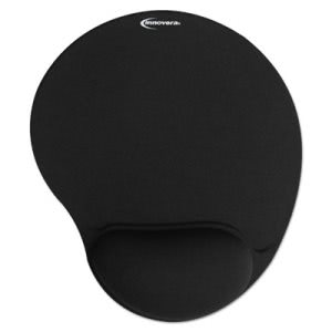 Innovera Mouse Pad w/Gel Wrist Pad, Nonskid Base, 10-3/8 x 8-7/8 (IVR50448)