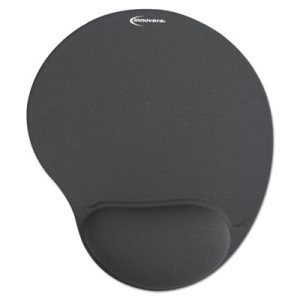 Innovera Mouse Pad w/Gel Wrist Pad, Nonskid,10-3/8 x 8-7/8, Gray (IVR50449)