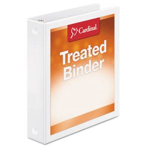 "Antimicrobial ClearVue Round Ring Binder, 1-1/2"" Capacity, White (CRD32215)"