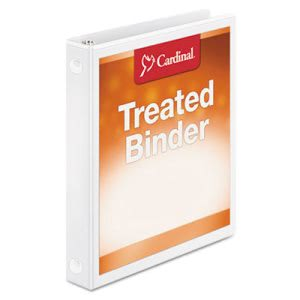 "Cardinal Antimicrobial ClearVue Locking Round Ring 1"" Binder, White (CRD32200)"