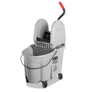 Rubbermaid WaveBrake Down-Press 35 qt. Mop Bucket, Gray (RCP1863899)