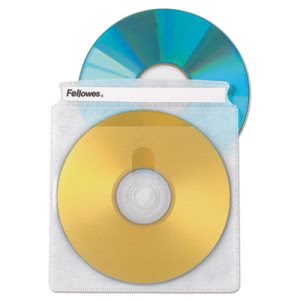 Fellowes Two-Sided CD/DVD Sleeve Refills for Softworks File, 25/Pack (FEL90661)