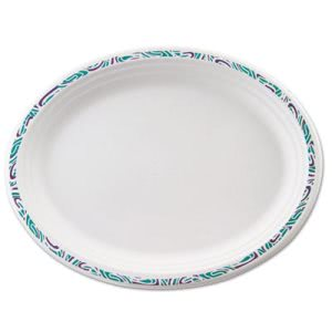 Chinet Paper Plates, Oval, White, Festival Rim, 500 Platters (HUH22525)