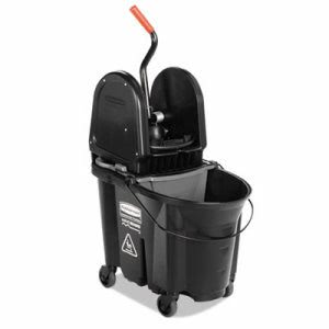 Rubbermaid 1863898 Executive WaveBrake 35-qt. Bucket/Wringer, Black (RCP1863898)