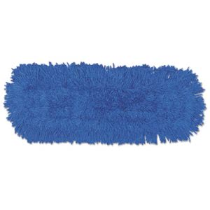 Rubbermaid J343 Twisted Loop Synthetic Dust Mop, Blue, 12 Mops (RCPJ353DZ)
