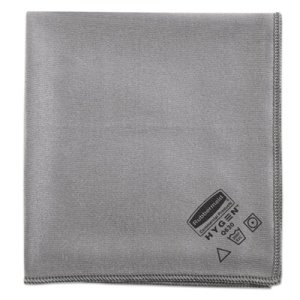 Rubbermaid Executive Glass Microfiber Cloths, Gray, 12 per Pack (RCP1867398)