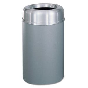 Rubbermaid Commercial Crowne Collection Open Top Receptacle, Aluminum/Steel, 30 gal, Silver/Gray (RCPAOT30SAGRPL)