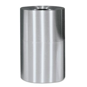 Rubbermaid Commercial Atrium Extra Large Capacity Aluminum Container, Open Top, 62 Gal, Satin Finish (RCPAOT62SAPL)