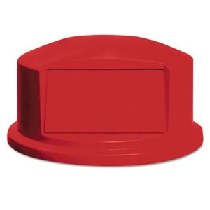 Rubbermaid 264788 Dome Top Lid for 44 Gallon Brute Cans, Red (RCP264788RED)