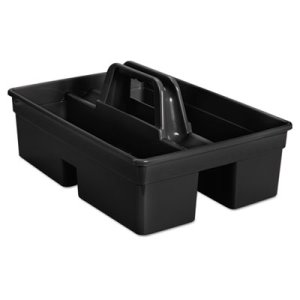 Rubbermaid 1880994 Executive 2-Compartment Carry Caddy, Black (RCP1880994)