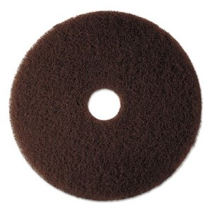 "3M Brown 14"" Floor Stripping Pad 7100, Synthetic Fiber, 5 Pads (MMM08442)"