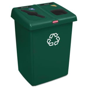 Rubbermaid 1792340 Glutton Recycling Station, Two-Stream, 46 Gallon (RCP1792340)