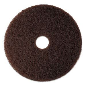 "3M Brown 17"" Floor Stripping Pad 7100, 5 Pads (MMM08445)"