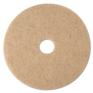 "3M Natural Blend Tan 24"" Burnishing Floor Pad 3500, 5 Pads (MMM19012)"