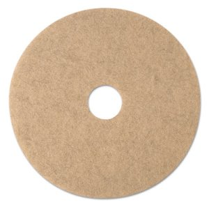 "3M Natural Blend Tan 19"" Burnishing Floor Pads 3500, 5 Pads (MMM19007)"