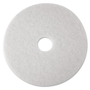 "3M White 15"" Super Polishing Floor Pad 4100, 5 Pads (MMM08479)"