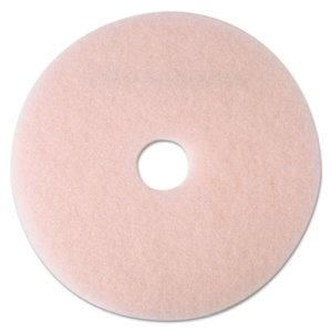 "3M Pink 17"" Eraser Burnishing Floor Pad 3600, 5 Pads (MMM25855)"