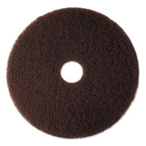 "3M Brown 12"" Floor Stripping Pad 7100,Synthetic Fiber, 5 Pads (MMM08440)"