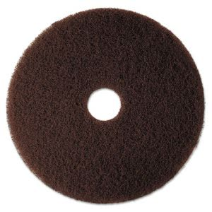"3M Brown 18"" Floor Stripping Pad 7100, 5 Pads (MMM08446)"