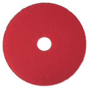 "3M Red 17"" Floor Buffing Pad 5100, Non-Woven Polyester Fibers, 5 Pads (MMM08392)"