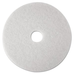 "3M White 21"" Super Polishing Floor Pad 4100, 5 Pads (MMM08485)"
