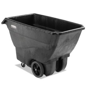 Rubbermaid Executive 3/4 Yard Structural Foam Tilt Truck, Black (RCP1867539)