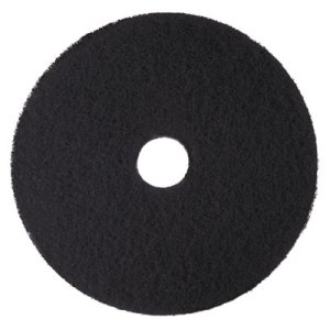 "3M Black 14"" High-Productivity Floor Pad 7300, 5 Pads (MMM08272)"