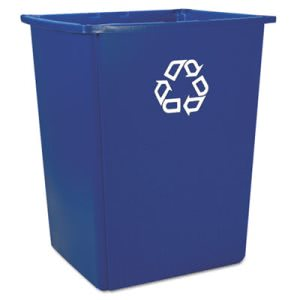 Rubbermaid Commercial Glutton Recycling Container, Rectangular, 56 gal, Blue (RCP256B73BLU)