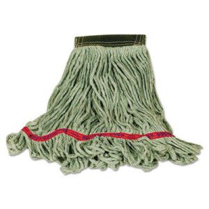 Rubbermaid D251 Super Stitch Blend Mop, Small, Green, 6 Mops (RCPD251GRE)