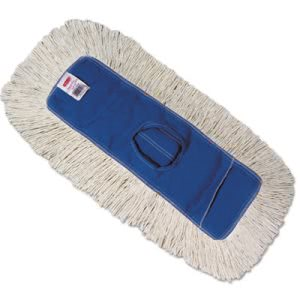 Rubbermaid K153 Kut-A-Way Dust Mop Head, White, 12 Mop Heads (RCPK15312BLU)