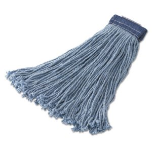 Rubbermaid F559 Cut-End 32-oz Wet Mop Heads, Blue, 12 Mops (RCPF559BLU)