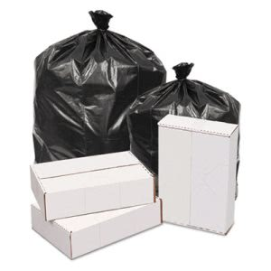 60 Gallon Black Garbage Bags, 38x58, 1.2mil, 100 Bags (GEN385815)
